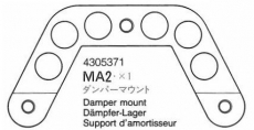 Dämpfer Halterung Alu Formel #4305371