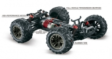 1:16 Green Power Elektro Modellauto High Speed Monster Truck SPIRIT schwarz/blau 4WD RTR 16002