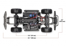 TRAXXAS TRX-4 Land Rover Crawler rot 1/10 Crawler 2.4GHz (Link-fähig) ohne Akku, ohne Lader