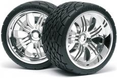 H4731 - Phaltline Reifen 140X70mm/Tremore Felge Radsatz ( 2 ) 1:8 17mm Sechskant 4731