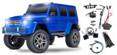 TRAXXAS TRX-4 Mercedes G 4X4² Blau RTR ohne Akku/Lader 1/10 4WD Scale Crawler Limited Version inkl. Lichtset TRX82096-4BLUE-L