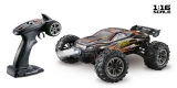 1:16 Green Power Elektro Modellauto High Speed Race Truck - Truggy RACER schwarz/orange 4WD RTR 16003