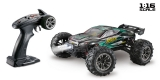 1:16 Green Power Elektro Modellauto High Speed Race Truck - Truggy RACER schwarz/grün 4WD RTR 16004