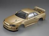 Killerbody Nissan Skyline R34 Karosserie Champagner Gold 195mm RTU # KB48645 fertig Lackiert
