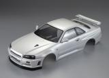Killerbody Nissan Skyline R34 Karosserie Perl Weiß 195mm RTU # KB48644 fertig Lackiert