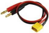 XT 60 ( gelb ) Ladekabel auf 4 mm Gold Banane