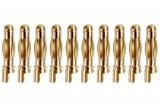 4mm Gold Stecker 1 Stück